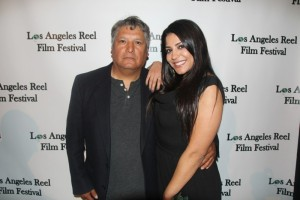 Javier Ronceros- Director with Tala ( Layla ) Delvarani - Lead Actress THE MILLER PREDICTION